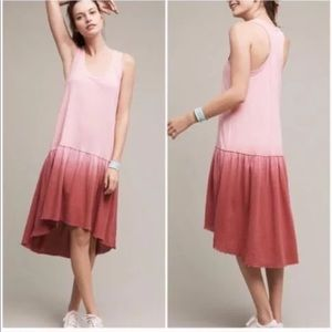 NWT Saturday Sunday Watercolor Ombré Swing Dress L